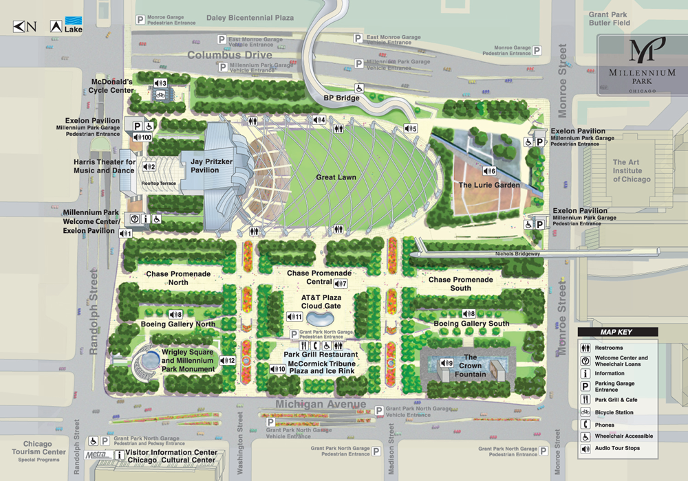 Map of Millennium Park