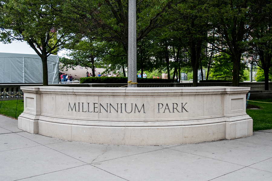 Sign in Millennium Park