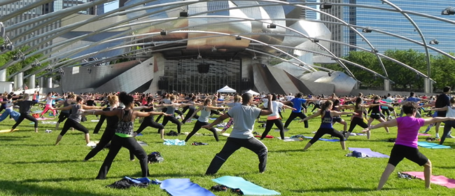 Working Out in Millennium Park